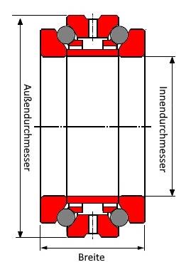 Bild mit Axial-Schrägkugellager