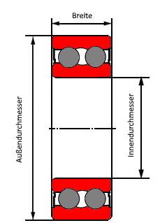 Bild mit Schrägkugellager, zweireihig